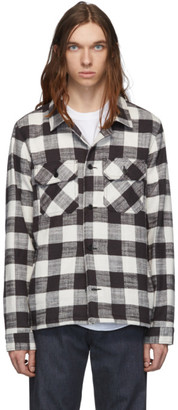 Naked & Famous Denim Denim Black and White Slubby Check Work Shirt