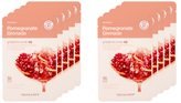 The Face Shop Real Nature Pomegranate Face Mask - Skin Protection Set (10 PC)