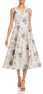 Eliza J Eliza Floral A-Line Sleeveless Dress