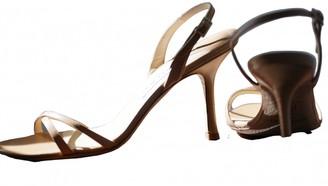 Jimmy Choo Beige Leather Sandals