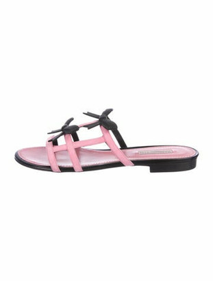 Fabrizio Viti City Bow Suede Slide Sandals w/ Tags Pink