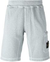 Stone Island logo patch track shorts - men - Cotton - L
