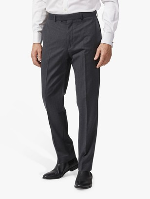 Chester by Chester Barrie Herringbone Wool Cashmere Tailored Suit Trousers, Charcoal