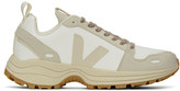 Rick Owens Off-White and Tan Veja Edition Vegan Hiking Sneakers