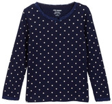 Joe Fresh Polka Dot Ribbed Tee (Toddler & Little Girls)