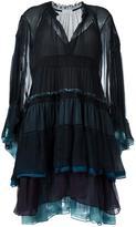 Chloé tiered colour block dress - women - Silk/Polyester - 34