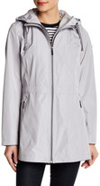 Laundry by Shelli Segal Hooded Cinch Zip Raincoat