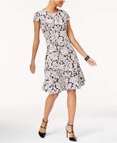 Alfani Petite Printed Jacquard Fit & Flare Dress, Created for Macy's