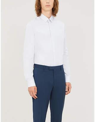 Sandro Striped classic-fit cotton-poplin shirt