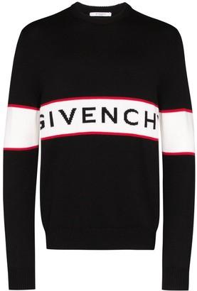 Givenchy Intarsia Knit Logo Jumper