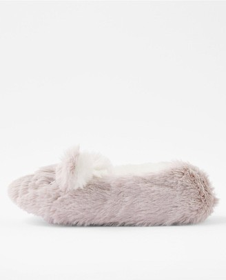 Accessorize Girls Bella Bunny Slippers - Grey