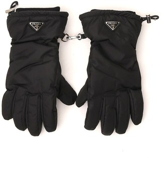 Prada Triangle Logo Gloves