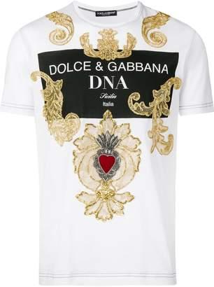 Dolce & Gabbana baroque embroidered T-shirt