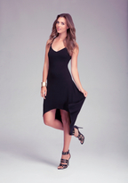 Bebe Solid High Low Dress