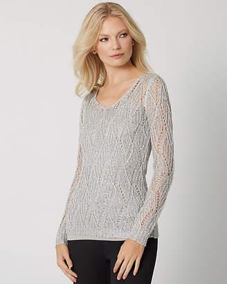 Le Château Sequin V-Neck Sweater