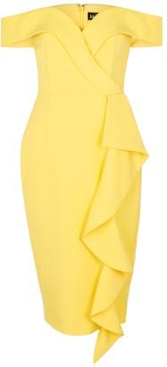 Lavish Alice Yellow ruffle-trimmed dress