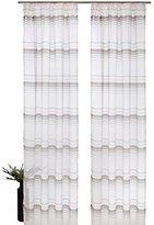 2pcs Yarn Dye Striped Window Curtain Panels Hook Top Window Treatments Drapery Drape Room Divider Partition Curtains Decorative for Living Room Lounge