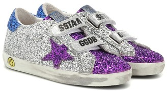 Golden Goose Kids Old School glitter sneakers