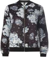 Izabel London **Izabel London Black Floral Bomber Jacket