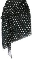 Saint Laurent polka dot mini skirt