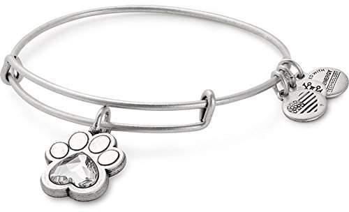 Alex and Ani Prints of Love Expandable Charm Bracelet, Rafaelian Silver-Tone