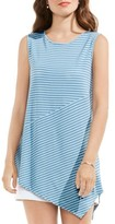 Vince Camuto Women's Asymmetrical Stripe Top