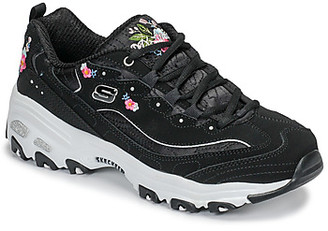 Skechers D'LITES BRIGHT BLOSSOMS women's Shoes (Trainers) in Black