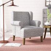 Laurèl Meade Wingback Chair Foundry Modern Farmhouse Fabric: Gray Washed/Marbled Gray