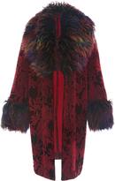 Anna Sui Floral Flocked Velvet Coat