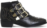 Office Lucky Charm studded leather boots