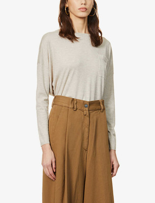 Brunello Cucinelli Beaded cashmere-blend top