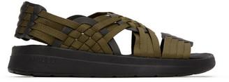Malibu Sandals Khaki and Black Canyon Sandals