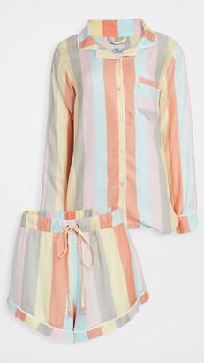 Plush Ultra Soft Rainbow Stripe PJ Set