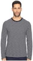 Vince Striped Long Sleeve Crew Neck T-Shirt