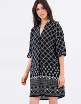 Whistles Cross Hatch Print Luna Dress