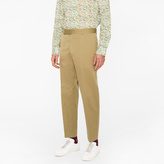Paul Smith Men's Standard-Fit Light Khaki Cotton-Linen Chinos