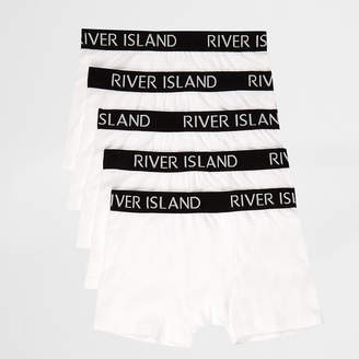 River Island Boys white colour RI boxers multipack