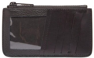 Maison Margiela Leather Cardholder - Mens - Black