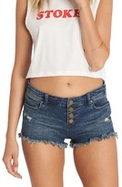 Billabong Women's Buttoned Up Denim Shorts
