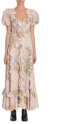 Alexander McQueen Cut-Out Back Maxi Dress