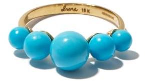Irene Neuwirth Turquoise & 18kt Gold Ring - Blue
