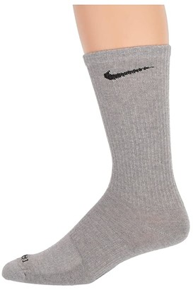 Nike Every Plus Lightweight Crew 3-Pair Pack (Dark Grey Heather/Black) Low Cut Socks Shoes