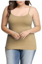 Dinamit Jeans Womens Plus Size Seamless Cami Tank Top Baby Pink