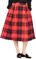 Kate Spade Woodland plaid midi skirt