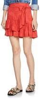 Maje Jahima Jacquard Wrap Skirt