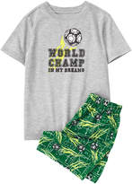 Gray & Green 'World Champ' Pajama Set - Infant