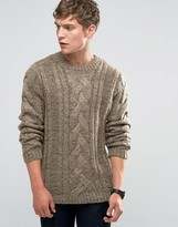 Bellfield Chunky Cable Knitted Sweater