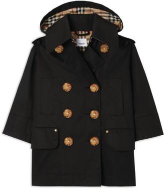 Burberry Kids Gabardine Hooded Trench Coat (3-12 Years)