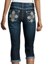 LOVE INDIGO Love Indigo Bling Cross Back Pocket Capris