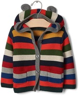 Gap Bright stripe bear hoodie